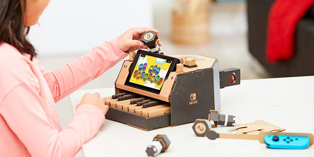 Nintendo ra mắt bộ phụ kiện Labo bằng... bìa cạc tông dành cho máy chơi game Switch