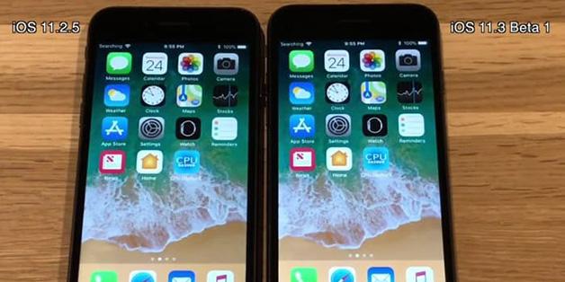 So sánh tốc độ iOS 11.3 Beta 1 và iOS 11.2.5 trên 5 đời iPhone