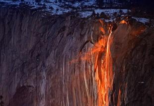 Thác lửa: hiện tượng thiên nhiên kỳ thú và duy nhất chỉ có ở Yosemite, Mỹ