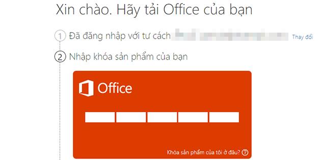 Cách kiểm tra xem Product key Office 2016 của bạn có chính chủ hay không