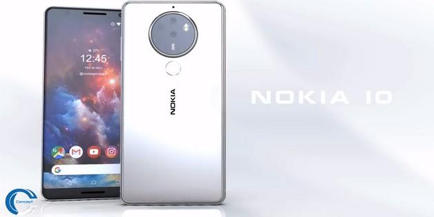 Ngắm ý tưởng Nokia 10 với thiết kế mặt lưng kính, màn hình 18:9 và 4 camera