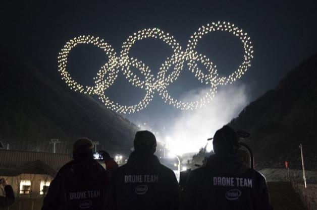 Intel lập kỷ lục 1.218 drone trình diễn tại lễ khai mạc Olympic mùa đông