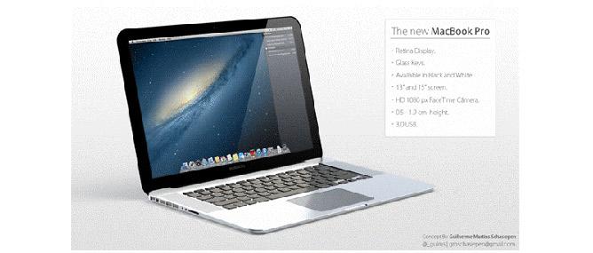 Những thiết kế mô phỏng tuyệt đẹp của MacBook Pro mới