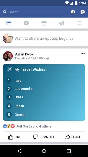 Facebook thêm tính năng Lists cho phép người dùng viết status dưới dạng liệt kê danh sách - ảnh 2
