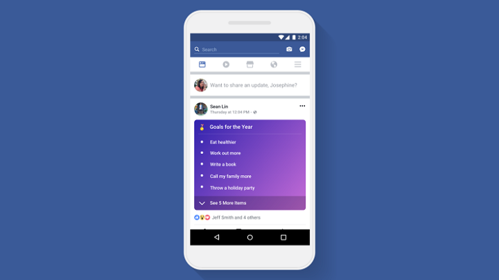 Facebook thêm tính năng Lists cho phép người dùng viết status dưới dạng liệt kê danh sách - ảnh 1