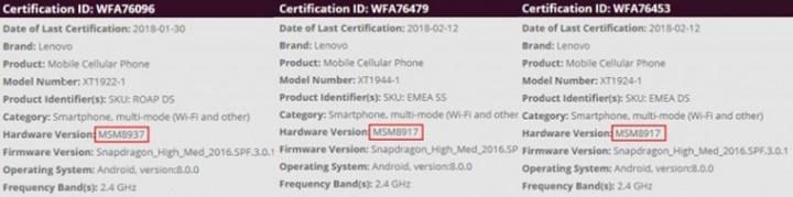 Moto G6 series sẽ có màn hình 18:9, lộ chip sử dụng cho G6 Play