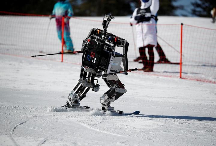 Cười thả ga với cuộc thi trượt tuyết chỉ dành cho robot tại Olympic PyeongChang 2018 - ảnh 1