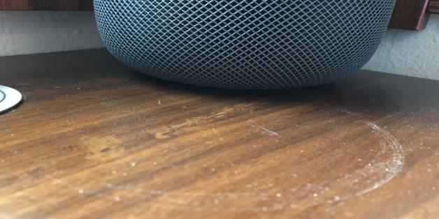Các chuyên gia cho rằng Apple đã có thể tránh tình trạng HomePod gây ra vòng tròn trắng trên đồ nội thất