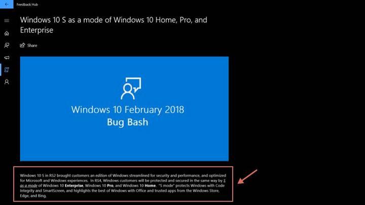 Tại sao Microsoft quyết định biến Windows 10 S thành một chế độ riêng biệt?