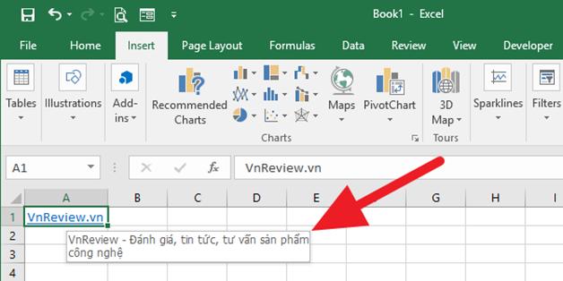 Hướng dẫn tạo gợi ý xuất hiện khi rê chuột lên một siêu liên kết trên Microsoft Excel