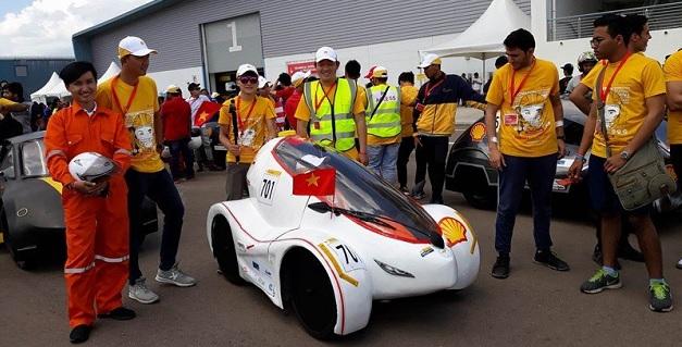 Xe điện do sinh viên Việt Nam chế tạo vô địch cuộc thi châu Á