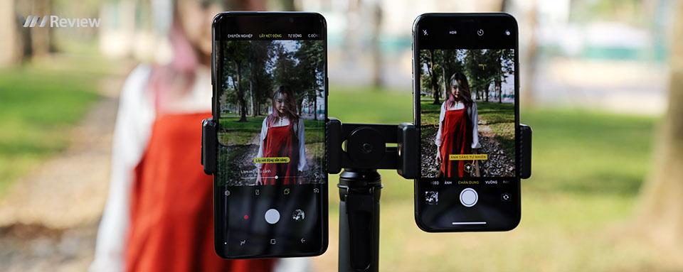 Đọ camera kép giấu mặt giữa Galaxy S9+ và iPhone X