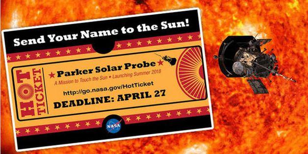 Gửi tên tới NASA và trở thành một phần của chuyến du hành lịch sử tới Mặt trời