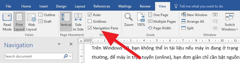 Cách di chuyển các trang trên Microsoft Word