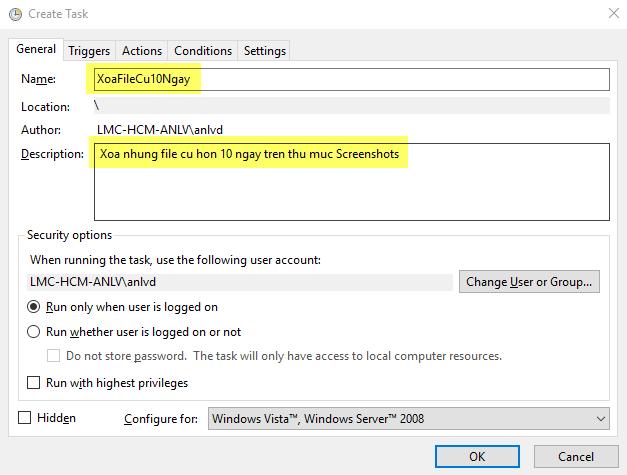 Cách tự động xóa file cũ hơn X ngày trên Windows 10