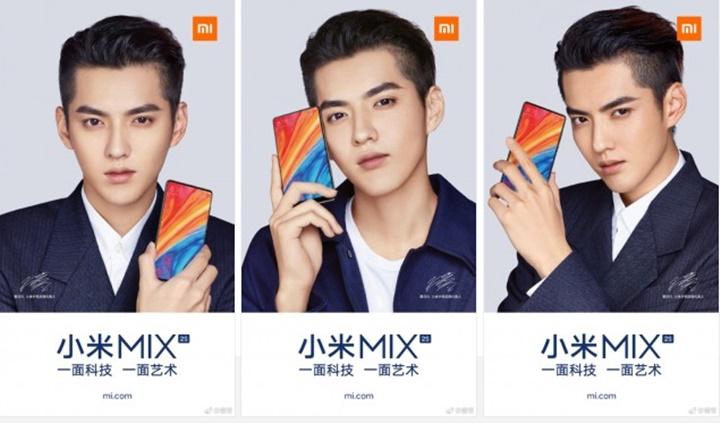 Xiaomi Mi Mix 2s tung quảng cáo không có camera trên đầu