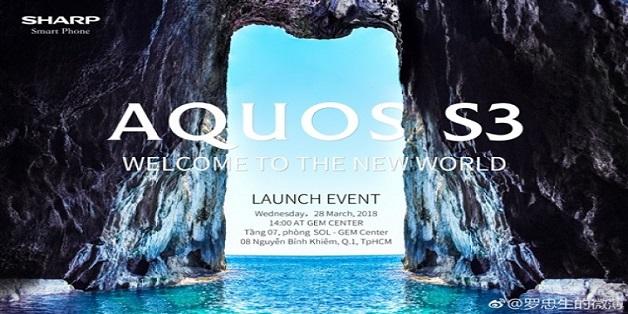 Sharp Aquos S3 sẽ ra mắt vào ngày 28/3 tại Việt Nam