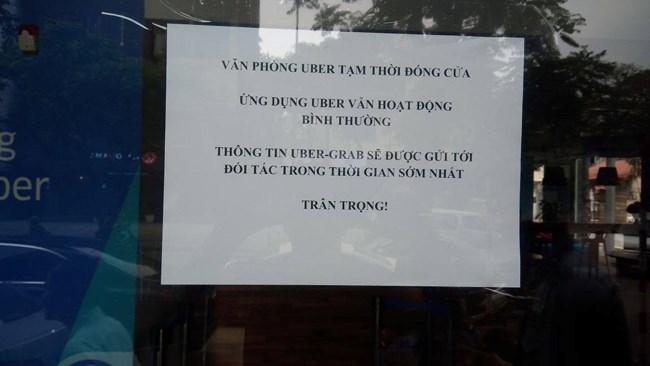 Văn phòng Uber Việt Nam tạm đóng cửa sau vài giờ Grab phát thông cáo sáp nhập