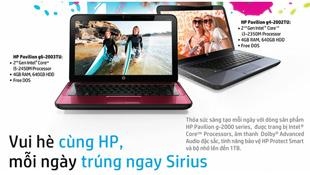 Mua laptop HP, trúng xe máy Sirius