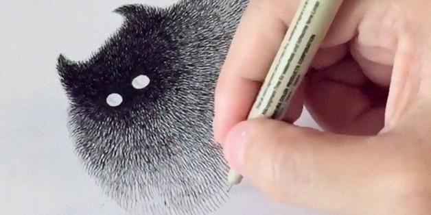 Nghệ sỹ Malaysia tạo hình những con mèo tuyệt đẹp chỉ bằng mực nước và bút lông