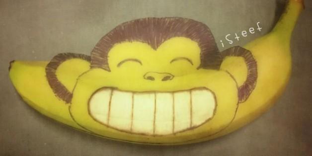 Chỉ với trái chuối, nghệ sỹ này đã biến hóa chúng thành những tác phẩm đầy ấn tượng