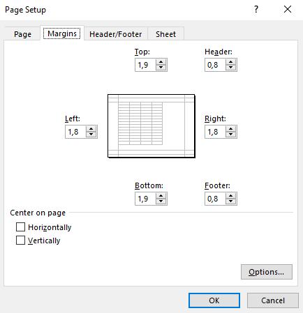 Cách in file Excel trên một trang giấy A4