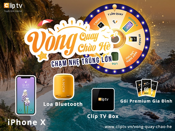 Cơ hội nhận miễn phí iPhone X từ Clip TV