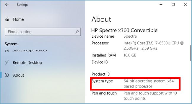 Trên Windows 7, bạn vào Control Panel > System and Security > System. Nhìn  vào mục System type để xem liệu bạn đang chạy hệ điều hành 32-bit hay 64-bit .
