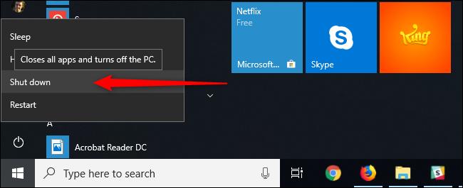Nút Shut Down không tắt hẳn máy tính Windows 10, muốn sửa lỗi hãy bấm Restart