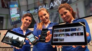 Samsung đã bán 7 triệu Galaxy Note, 50 triệu Galaxy S và S II