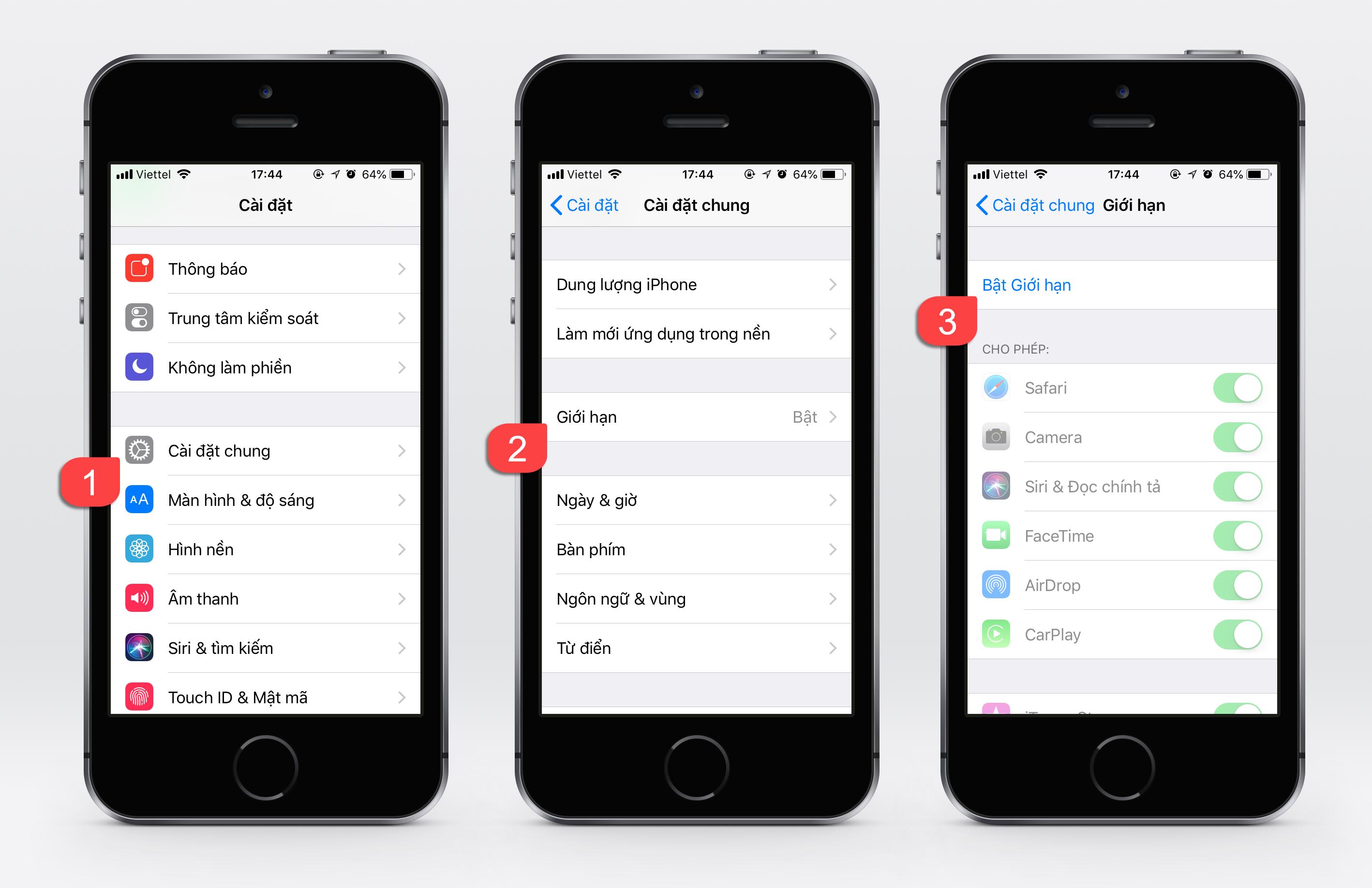 Hướng dẫn chặn các trang WEB người lớn trên iPhone, iPad