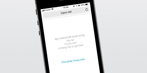 Cách chặn các trang web có nội dung người lớn trên iPhone và iPad