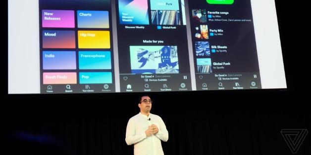 Spotify tung ứng dụng với thiết kế mới, có playlist theo yêu cầu dành cho người dùng miễn phí