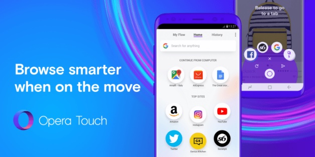 Opera ra mắt Touch: trình duyệt web mới dành cho Android, tối ưu để dùng một tay