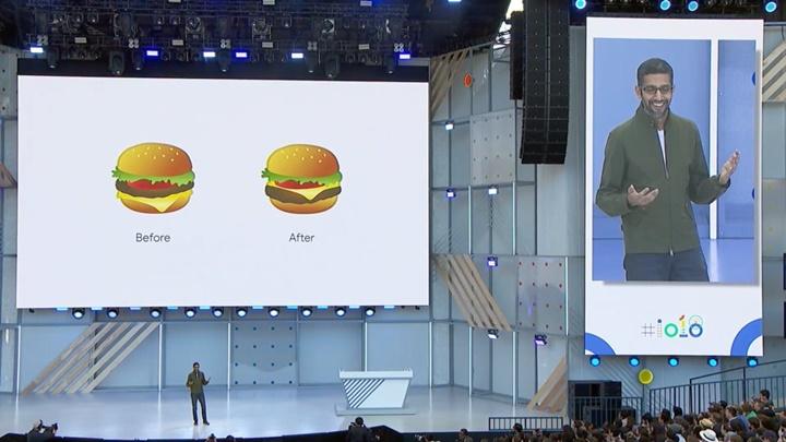 CEO Google xin lỗi về biểu tượng cảm xúc bánh burger không chính xác trên Android