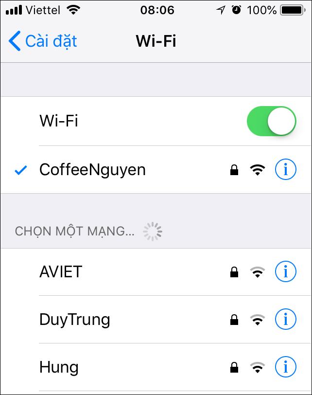 Thủ thuật nhận biết mạng WiFi nào đang mạnh nhất ?