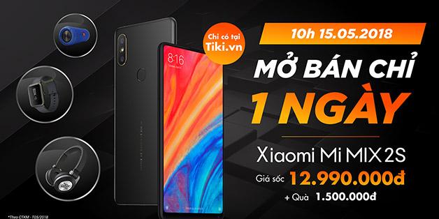 Tiki.vn mở bán độc quyền Xiaomi Mi Mix 2S - tặng quà 1,5 triệu đồng chỉ trong ngày 15/5/2018
