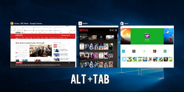Bộ phím tắt Alt+Tab sẽ đảm nhiệm chức năng khác thay vì chuyển ứng dụng?