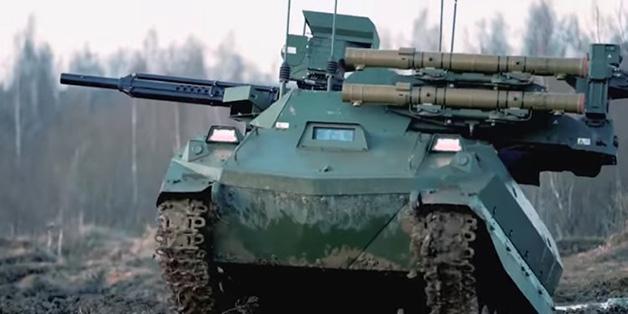 Robot xe tăng Uran-9 Nga vừa triển khai ở Syria có gì đặc biệt?