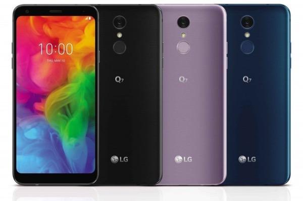 """LG giới thiệu bộ ba smartphone tầm trung màn 18:9 không """"tai thỏ"""" Q7, Q7+ và Q7α"""