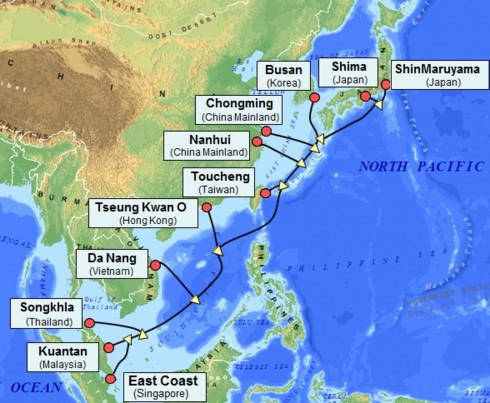 Google, Facebook và Amazon thúc đẩy phát triển các tuyến cáp biển tại Châu Á