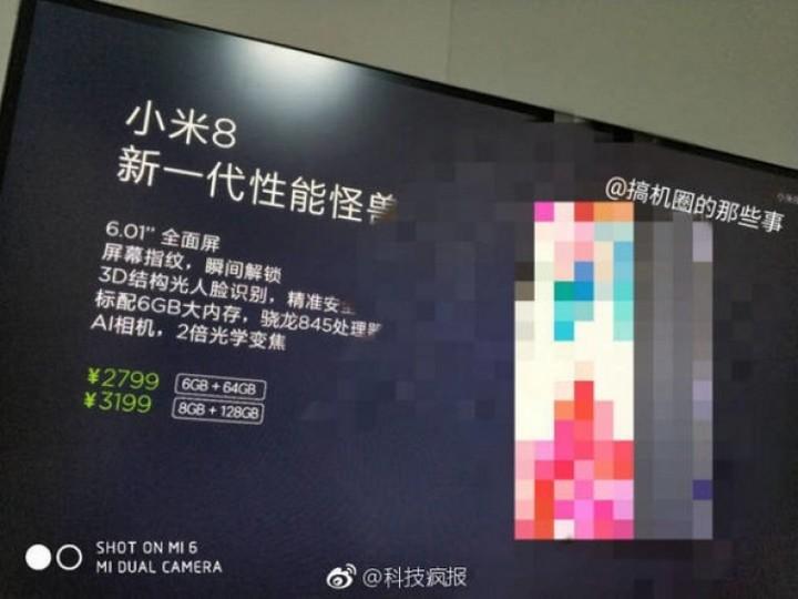 Xiaomi Mi 8 lộ giá bán và cấu hình chính thức trước ngày ra mắt