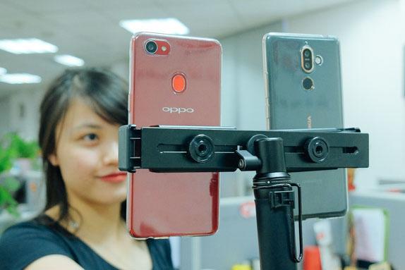 Oppo F7 chiến thắng Nokia 7 Plus trong bài đọ camera giấu mặt
