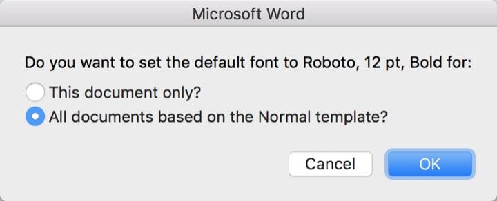 Hướng dẫn đổi font chữ mặc định trong Google Docs và Microsoft Word