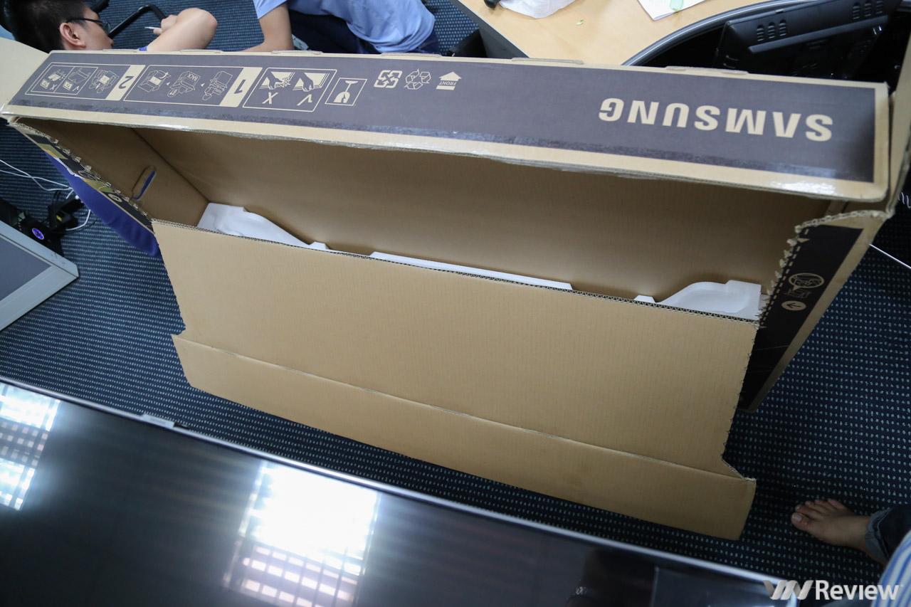 Mở hộp và trên tay Smart TV Samsung QLED Q7F 2018 55 inch - VnReview
