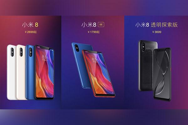 """Xiaomi ra mắt 3 phiên bản Mi 8: có """"tai thỏ"""", Snapdragon 845/710, Face ID, vân tay trong màn hình"""