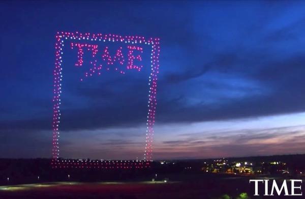 Độc đáo ảnh bìa báo TIME tạo ra bởi 958 drone của Intel