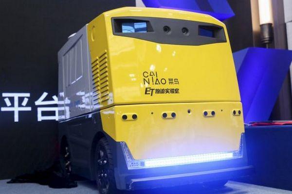 Alibaba giới thiệu robot giao hàng tự động, chứa được mọi loại hàng, tốc độ tối đa 15km/h