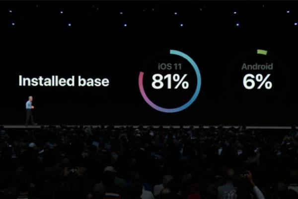 """Android nhanh chóng bị """"đá đểu"""" ngay phần mở đầu sự kiện Apple"""
