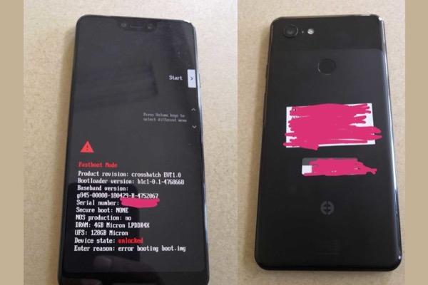 """Lộ ảnh chụp Google Pixel 3 XL: mặt lưng kính, có thêm """"tai thỏ"""""""